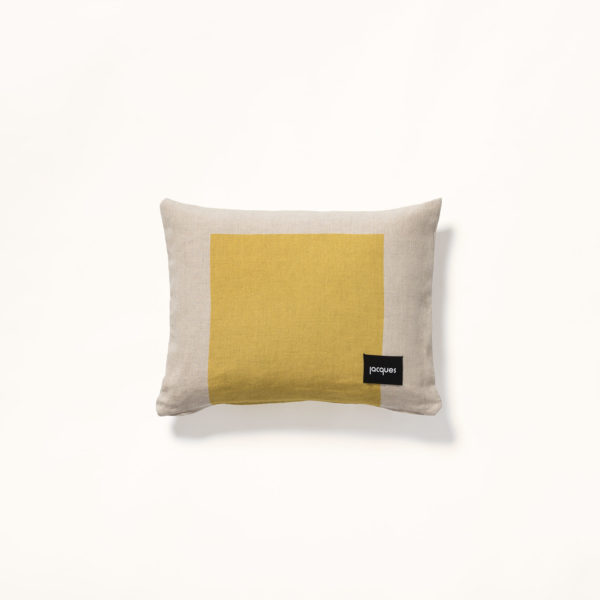 coussin jaune amour moderne