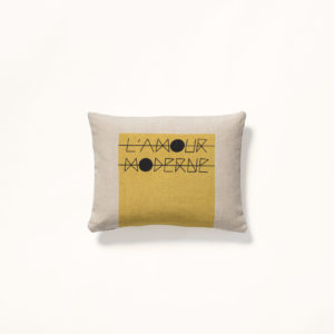 coussin jaune amour made in france