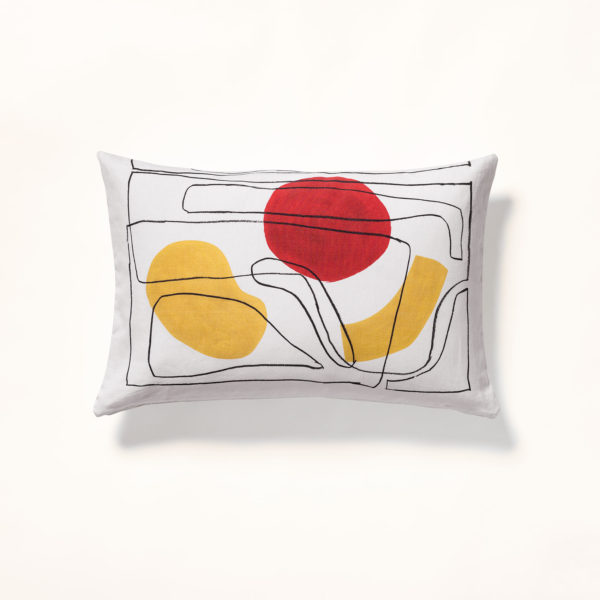 coussin motif abstrait abstraction