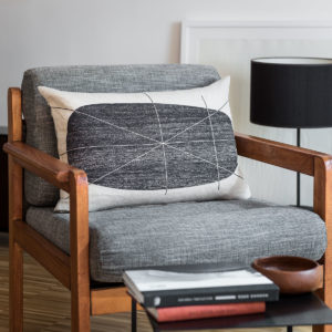 fauteuil avec le coussin référence le temps