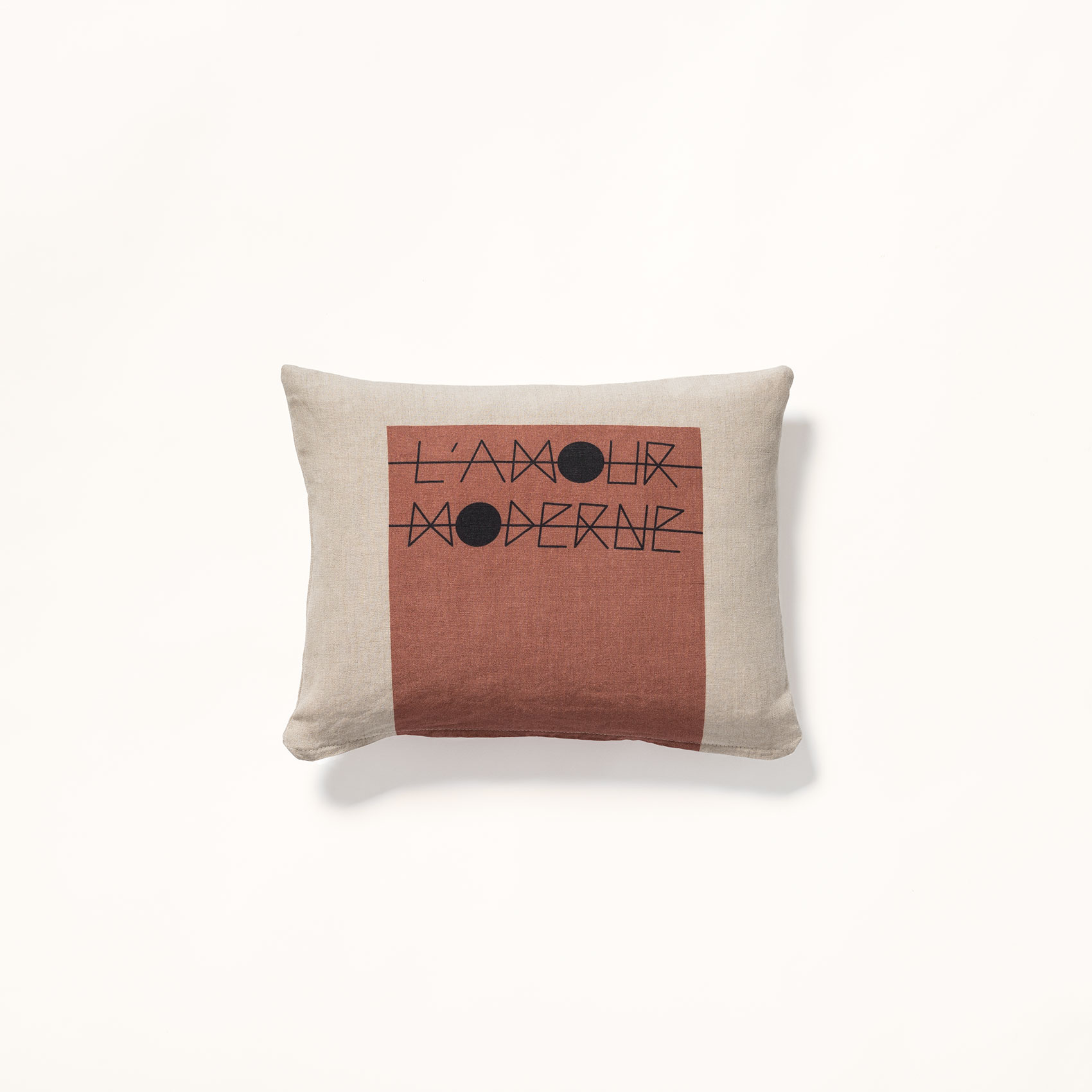 coussin amour moderne lin