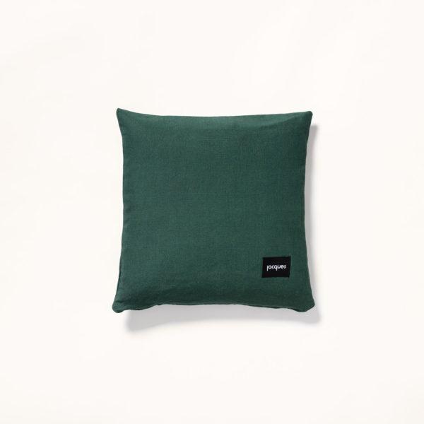 dos coussin vert 40x40 cm
