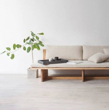 sofa minimaliste inspiration wai sabi