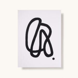 affiche marque décoration jacques motif abstrait noir et blanc