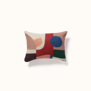coussin abstrait en lin made in france