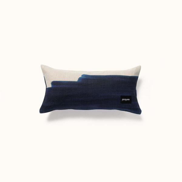 coussin poétique bleu made in france