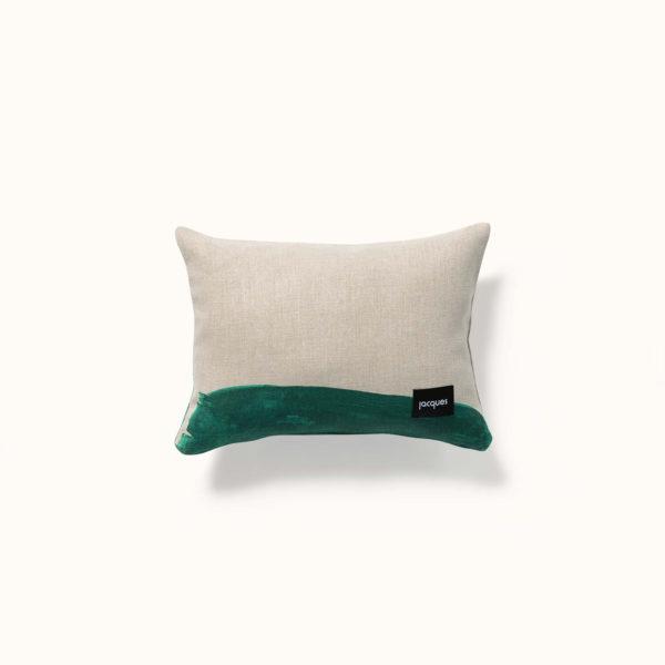 coussin vert- decoratif dos
