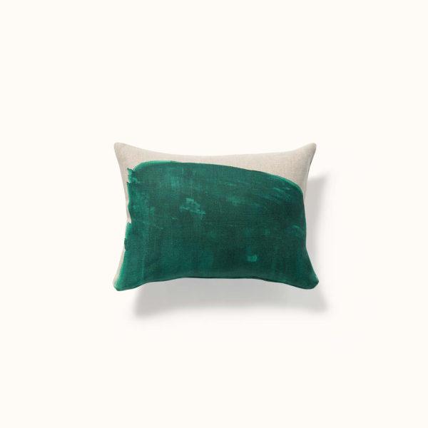 coussin vert décoration
