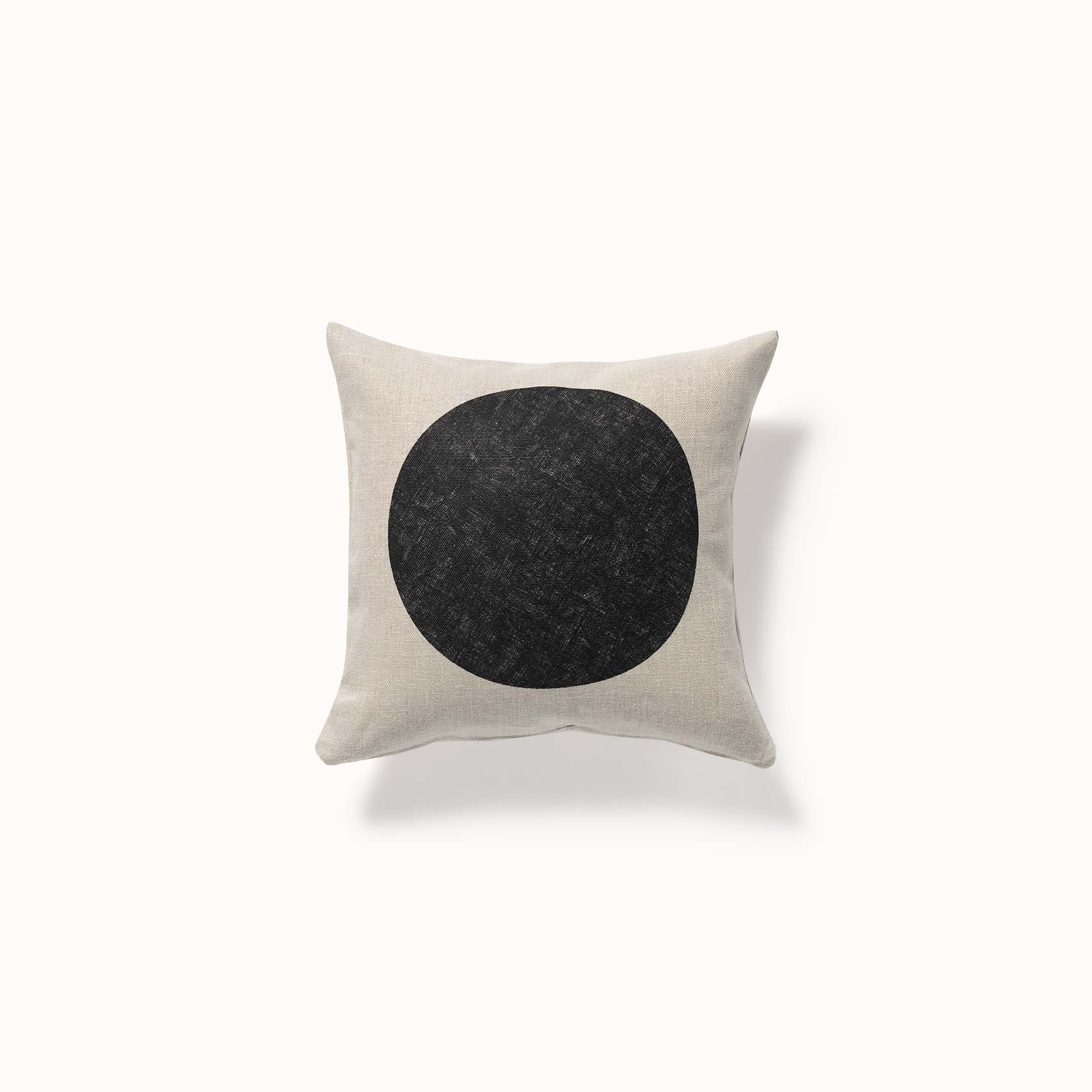 coussin minimaliste dessin rond