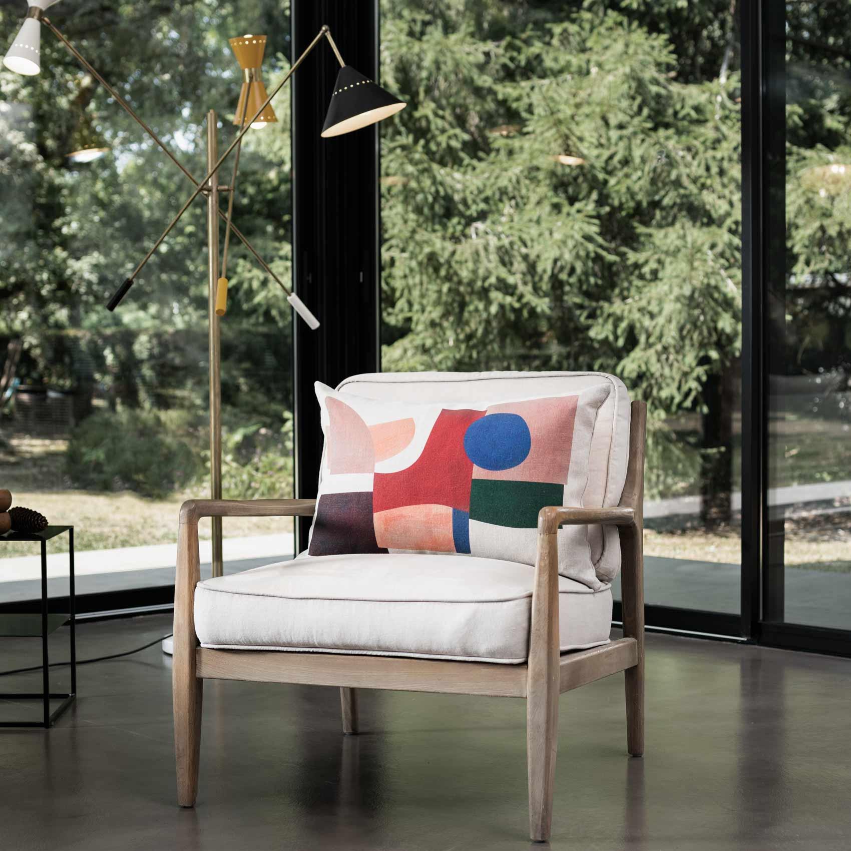 fauteuil et coussin décoration