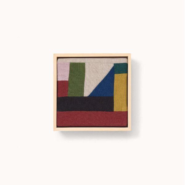 lin de couleur en tableau encadré paysage