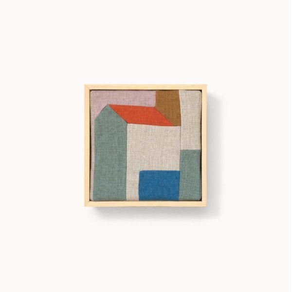 création textile patchwork en lin