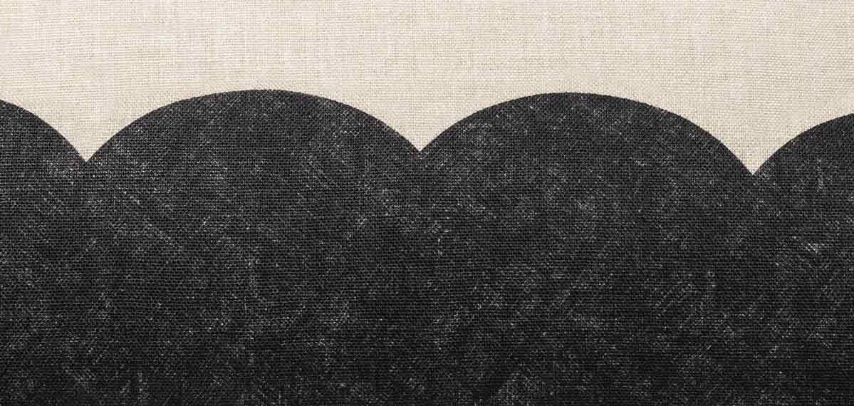 détails coussin minimaliste en lin