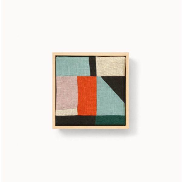patchwork composition géométrique oblique