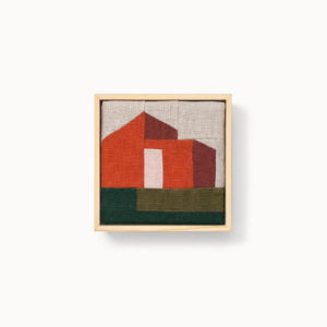 patchwork architecture moderne mandarine