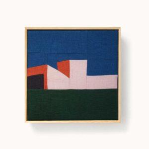patchwork encadré motif maison
