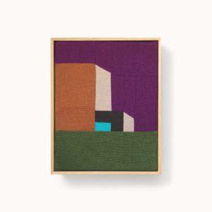 tableau patchwork motif architecture